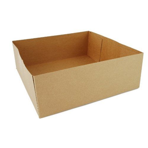 Tray Paper Kraft 4-Corner Pop Up 10.5x10.5x3 11/16""