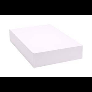 """Box Half Dozen Donut White 12x8x2.25"""""""