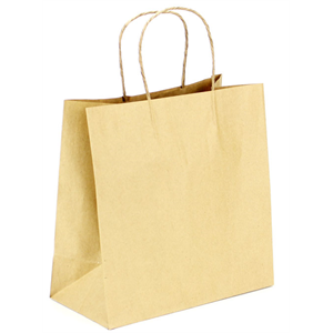 Bag Paper Handle Twisted 10x5x10, Kraft