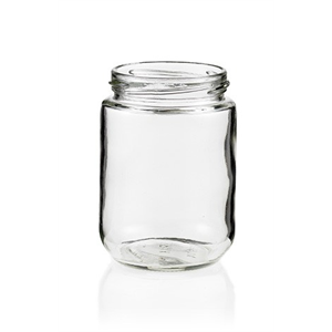 Jar Glass Short Cylinder 250ml 70mm Neck